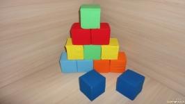 Мягкие цветные кубики