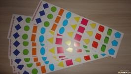 Счетный материал Фигуры- карточки картинки 30 шт