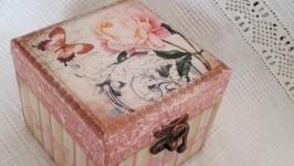 Шкатулка Розовая бабочка