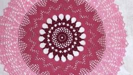 Салфетка ажурная трехцветная