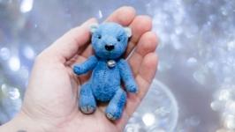 Миниатюрный Тедди мишка 7 см Блу