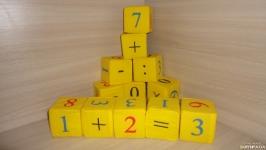 Мягкие кубики математические