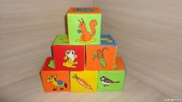 Мягкие кубики Животные и насекомые