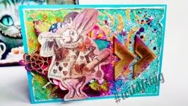 Открытка ′Кролик из Страны Чудес′