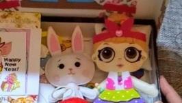 Развивающая игра для девочек Одень куклу Лол - Коробочка Счастья
