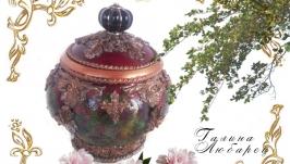 Шкатулка Уральские самоцветы