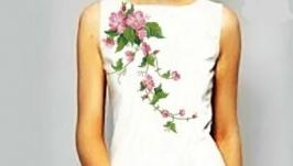 Платье вышитое женское лето
