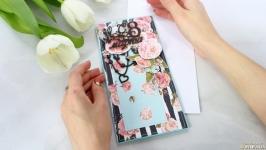 Открытка ′С 8 марта′ с чайными розами