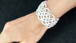 Кружевной свадебный (праздничный) браслет ′Margary′