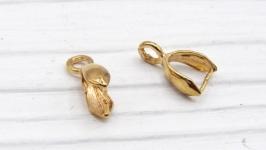 Бейл LUX Милано зажимной золото держатель для кулона
