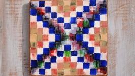 Мозаїка. Олійні фарби. 20х20х2,5 см