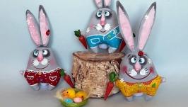 Зайцы сувенирные, подарок на Пасху
