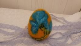 Пасхальное яйцо ручной работы из шерсти на Пасху декор к празднику