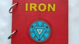 Блокнот «Железный человек Iron Man» ручная работа
