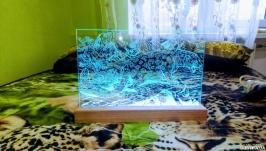 Гравировка по стеклу с подсветкой