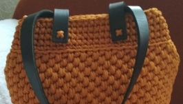 женская вязаная сумка