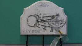 Ключница - вешалка декупаж