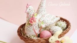 Пасхальная курочка и кролик