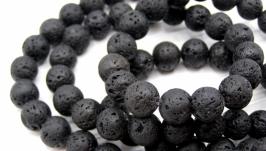 Лава нить 10 мм бусины натуральный камень