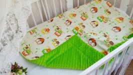 Плед детский. Плед - одеяло для новорожденных. Плед на выписку.