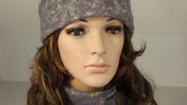 Валяная шапочка и шарф ′Восторженные взгляды′