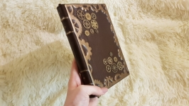 Кожаный блокнот ′шестеренки′. Скидка 50%