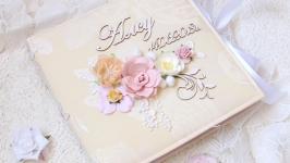 Альбом - дневник для новорожденной девочки , бебибук для девочки