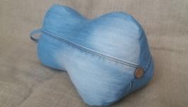 Джинсовая ортопедическая подушка ′ косточка′