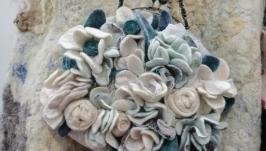 Валяна сумка Весняні квіточки