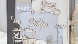Великий фотоальбом для новонародженого хлопчика