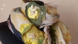 Валяний шарф ′Чайні поля′