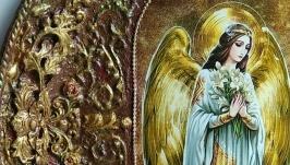 Декоративная тарелка ′Ангел хранитель′
