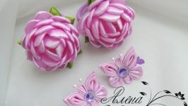 Комплект для волос ′Цветочки-бабочки′. Арт. КМ-118