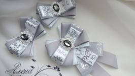 Комплект брошь-галстук и резиночки для волос. Арт. КМ-115