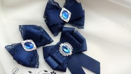 Комплекты украшений: Комплект для школьницы. Резиночки или зажимы и галстук