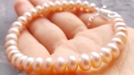 Срібло та натуральні перли браслет з перлів