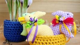 пасхальный кролик с декором