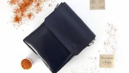 Классическая мужская сумка с клапаном ′Шафран′ (синяя)