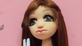 Катюша -текстильная интерьерная кукла малышка