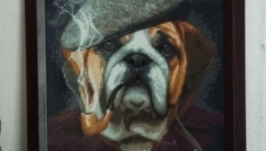 Картина ′Бульдог-детектив′