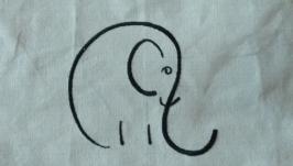 Текстильная сумка Слон