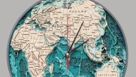 Часы ′Восточное полушарие′ многослойные