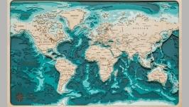 Объемная карта мира