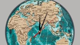 Часы ′Восточное полушарие′ двухслойные
