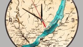 Часы ′Озеро Байкал′ двухслойные