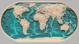 Карта мира в проекции Робинсона