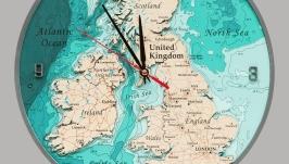 Часы ′Великобритания′ двухслойные