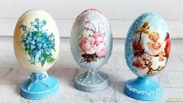 Декоративное пасхальное яйцо на подставке Подарок к пасхе
