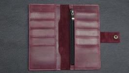 шкіряний  гаманець з натуральної шкіри