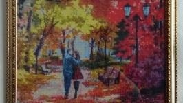 Картина ′Осенний парк′